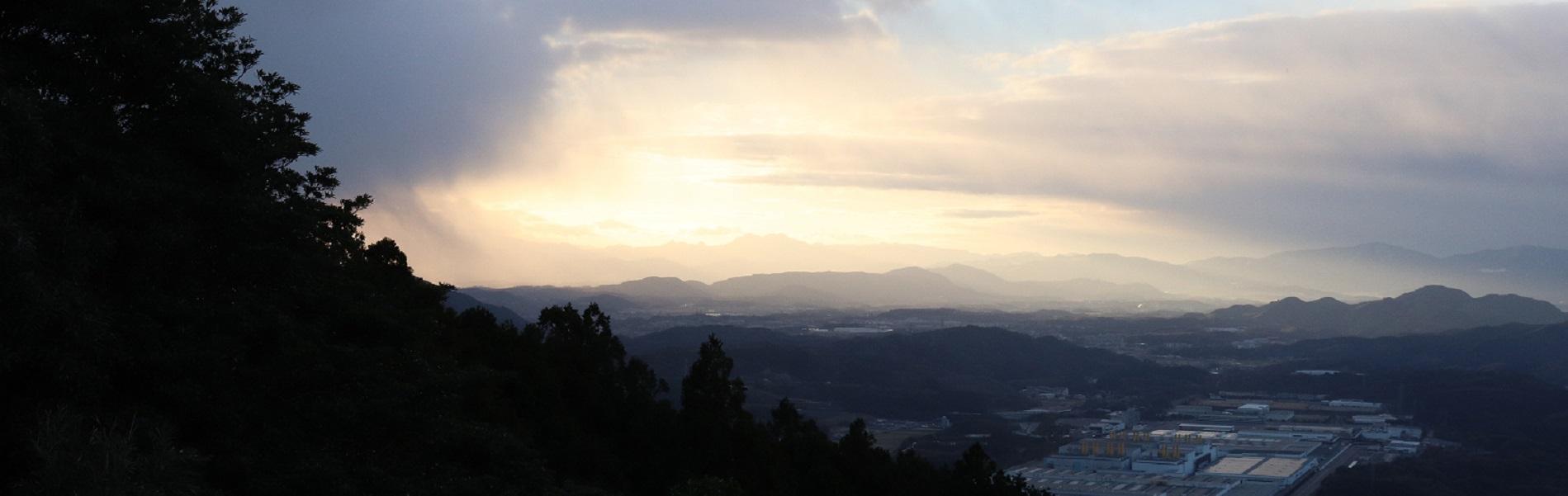 令和3年1月1日新立山からのぞむ初日の出